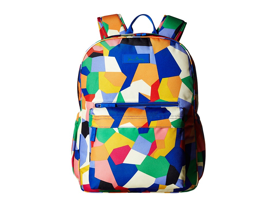 Vera Bradley - Lighten Up Grande Laptop Backpack (Pop Art) Backpack Bags