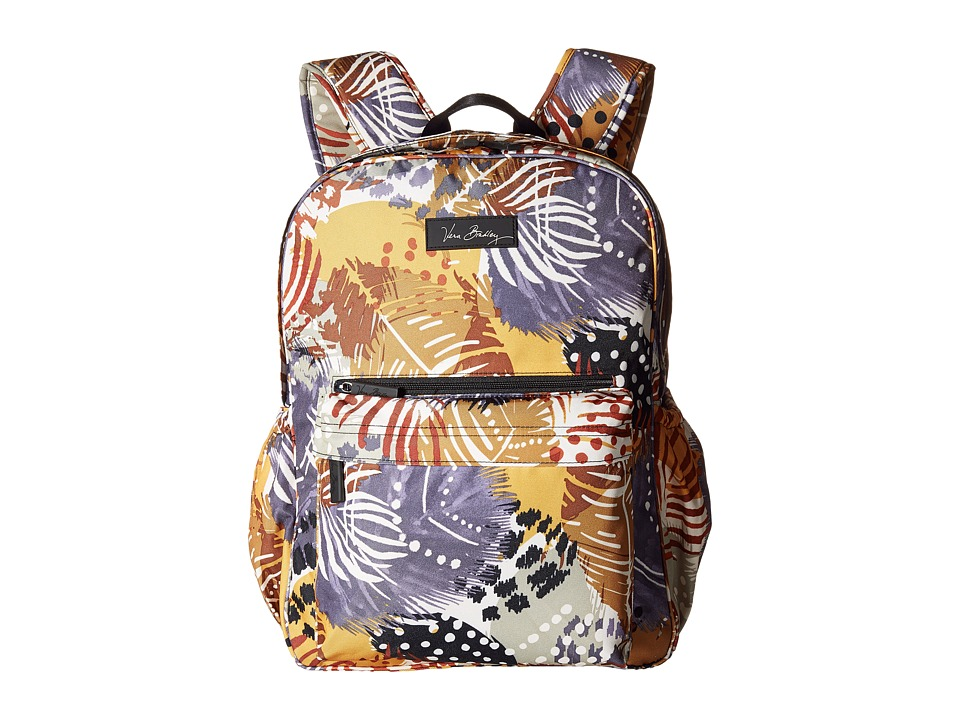Vera Bradley - Lighten Up Grande Laptop Backpack (Painted Feathers) Backpack Bags