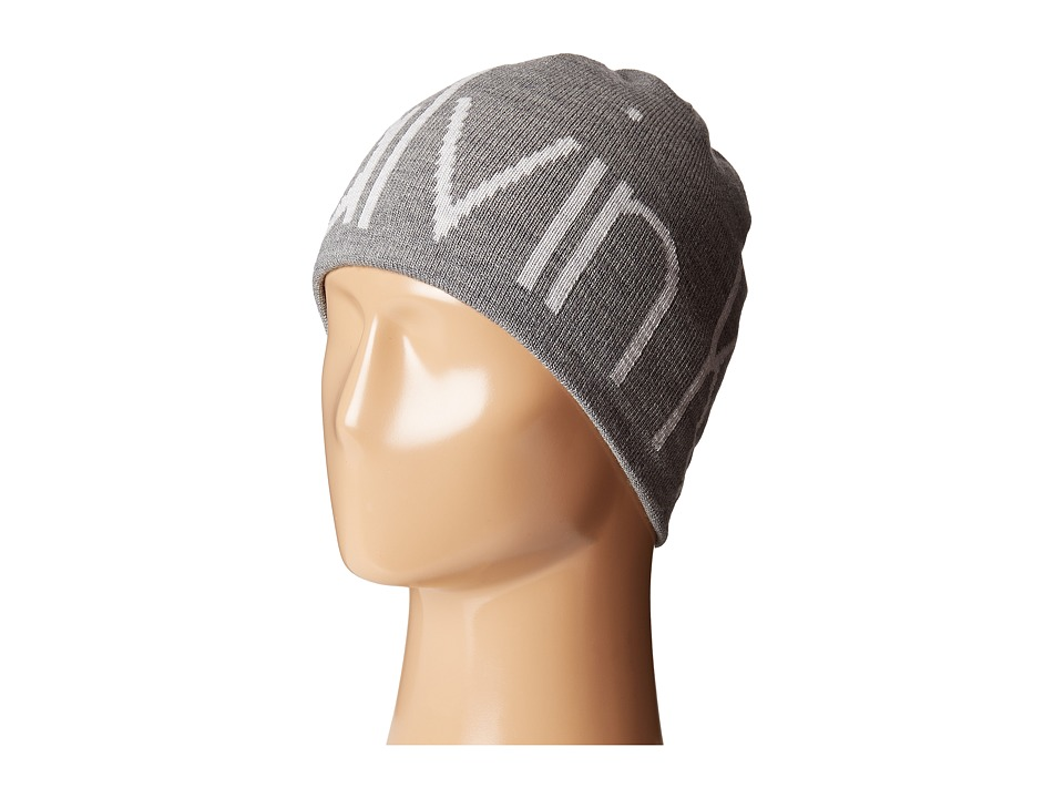 Calvin Klein - Super Logo with Embroidered Reversible Hat (Gray) Caps