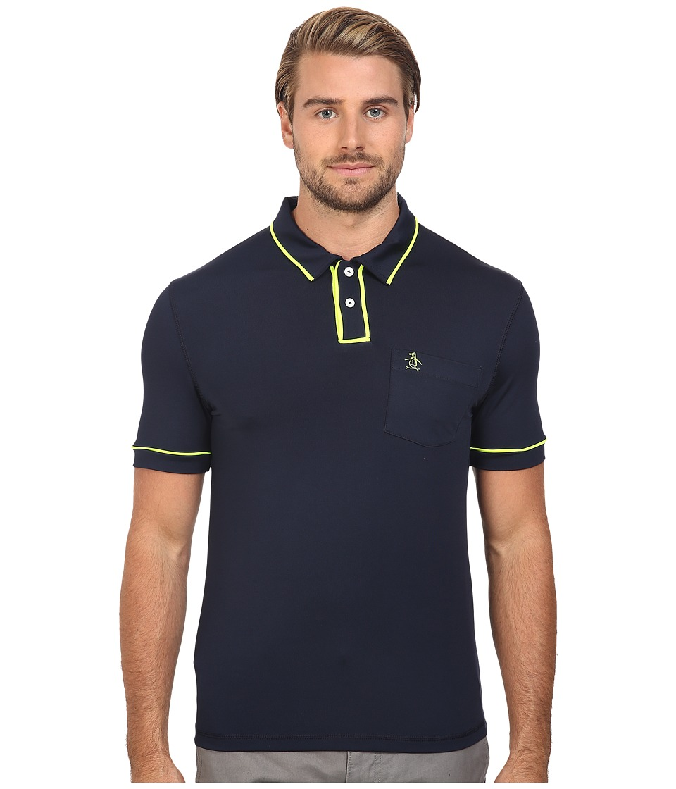 Original Penguin - Short Sleeve Two-Button Hydro Earl (Dark Sapphire) Men's Short Sleeve Pullover