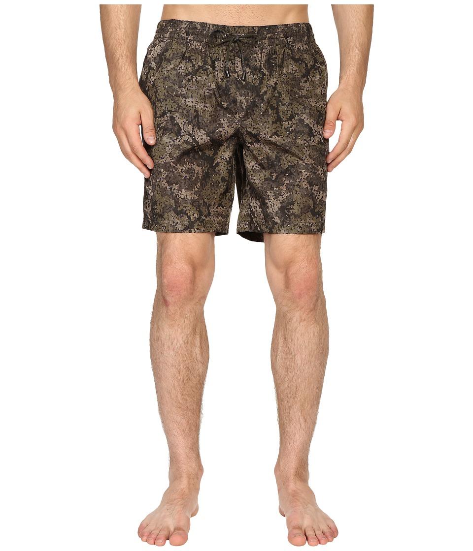 Dolce & Gabbana - M4A13TFSMY9 (Green Print) Men's Swimwear