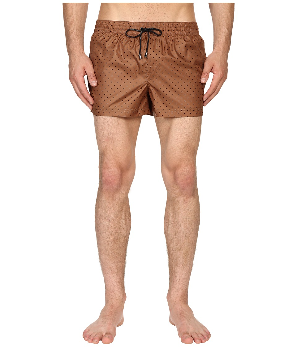Dolce & Gabbana - M4A06TFSMZZ (Khaki Print) Men's Swimwear