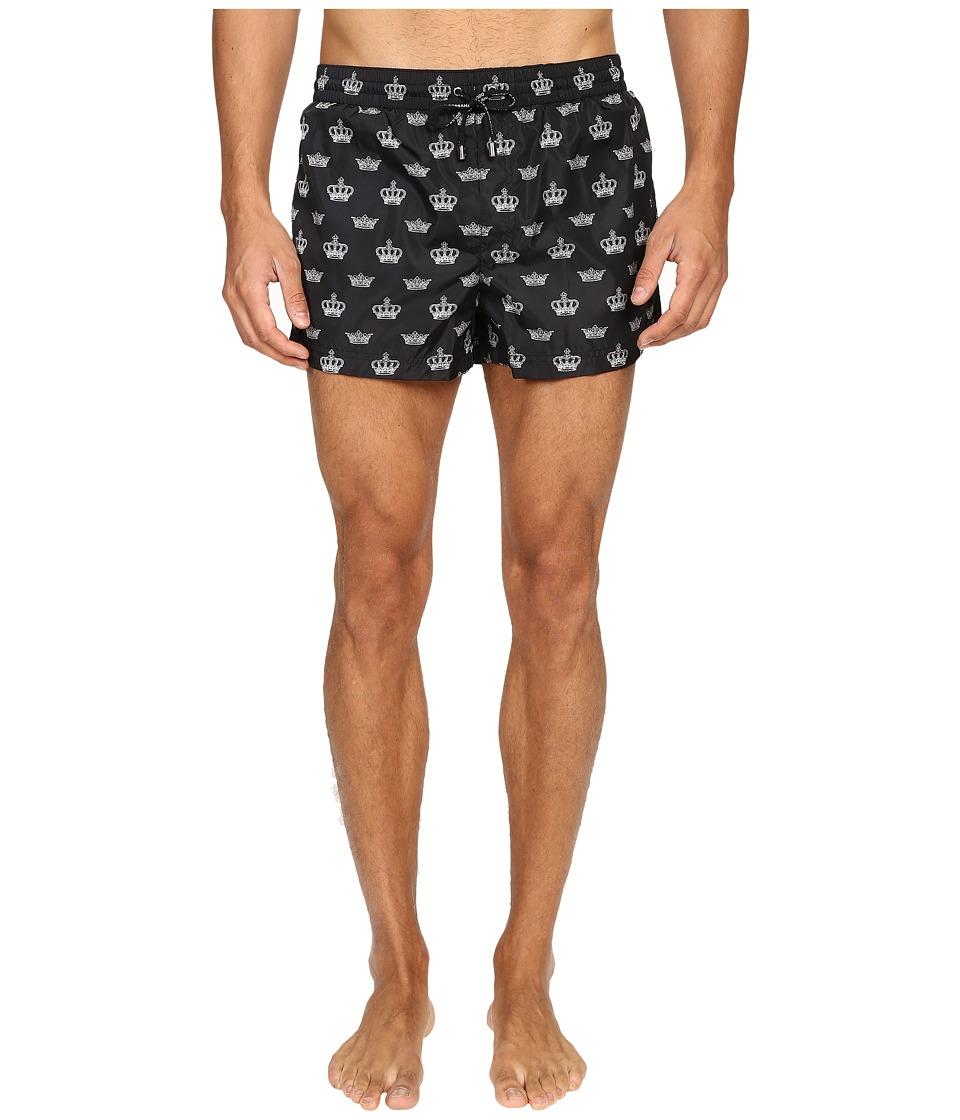 Dolce & Gabbana - M4A06TFSMTS (Black Print) Men's Swimwear