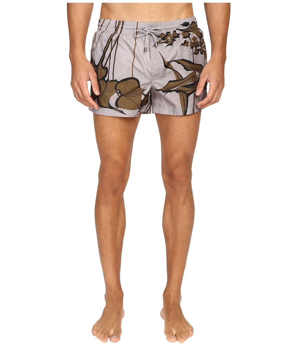 Dolce & Gabbana - M4A06TFPM5K (Grey Print) Men's Swimwear