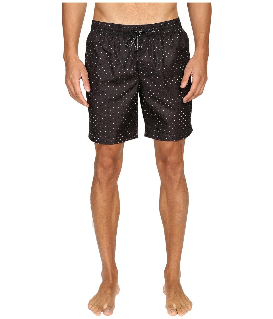 Dolce & Gabbana - M4A13TFSMZZ (Black Print) Men's Swimwear