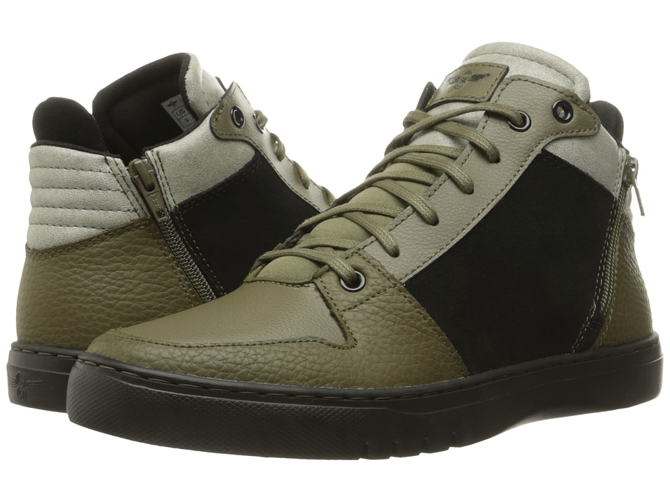 Creative Recreation - Adonis Mid (Black/Olive/Fog) Men's Lace up casual Shoes