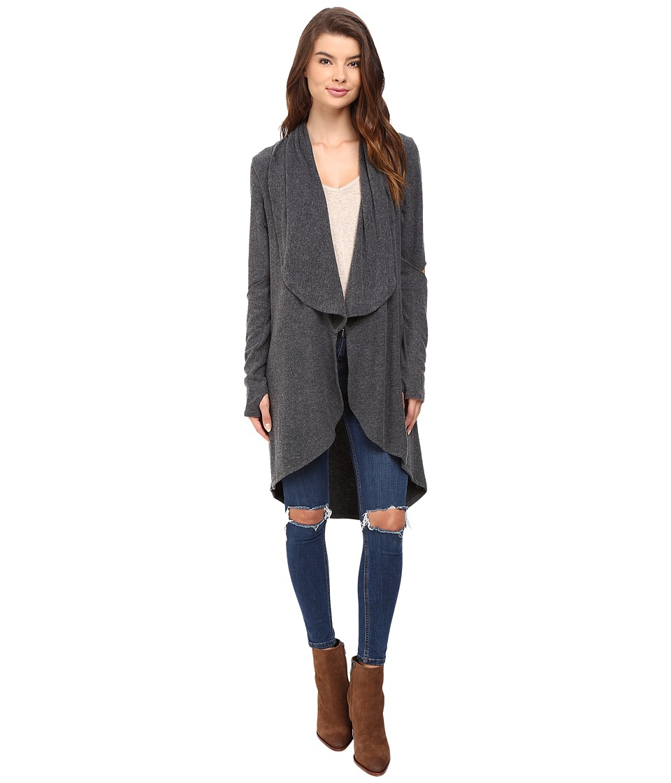 LNA - Open Elbow Cardigan (Charcoal) Women's Sweater