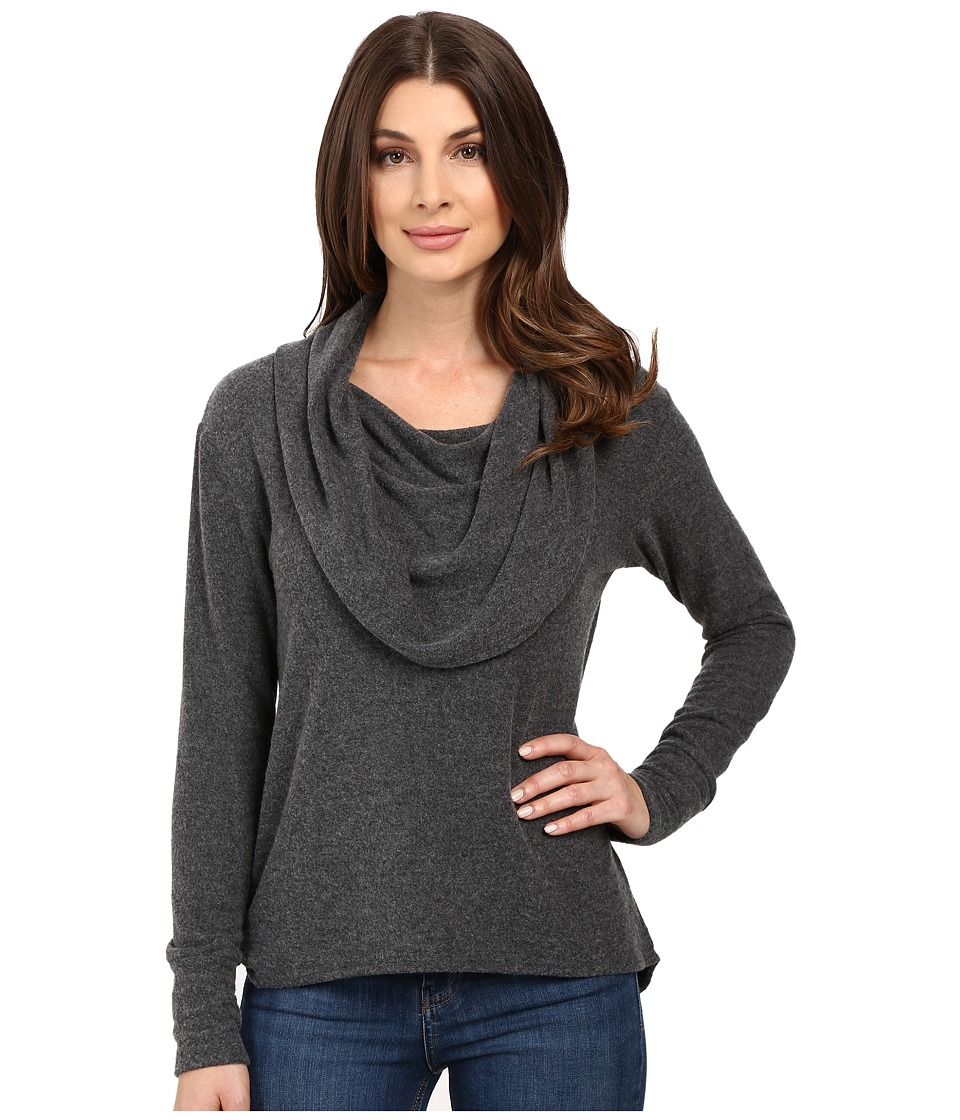 LNA - Scarf Sweater (Charcoal) Women's Sweater