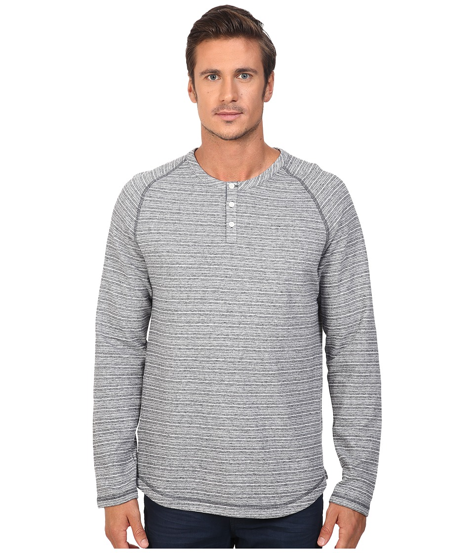 Original Penguin - Long Sleeve Lightweight French Terry Henley (Dark Sapphire) Men's Long Sleeve Pullover