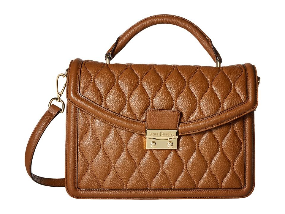 Vera Bradley - Lydia Satchel (Cognac) Satchel Handbags