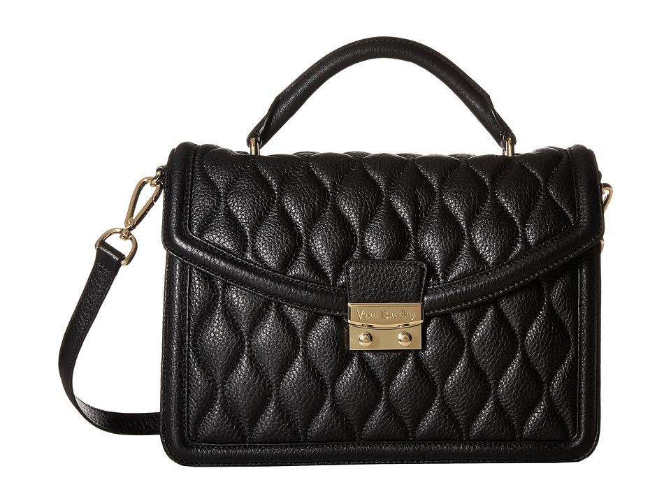 Vera Bradley - Lydia Satchel (Black) Satchel Handbags