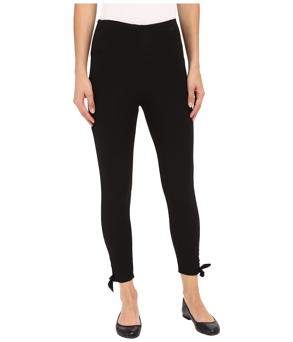 Lysse - Tie Cotton Crop Pants (Black) Women's Casual Pants