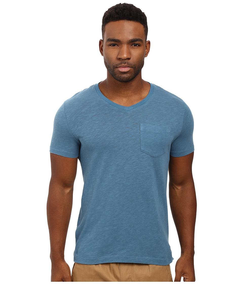 Original Penguin - Johnson V-Neck Tee (Aegean Blue) Men's T Shirt
