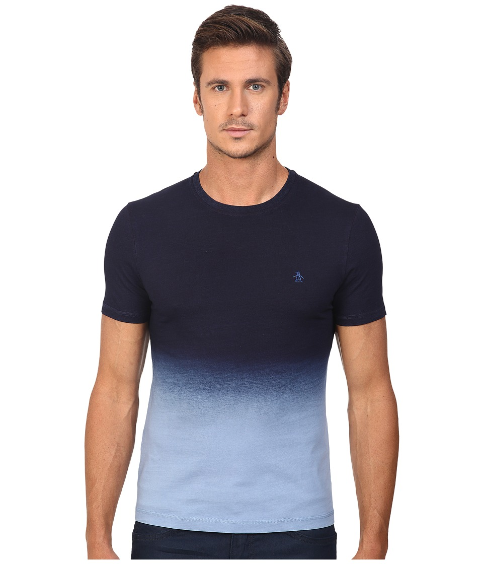 Original Penguin - Short Sleeve Indigo Dip-Dye Tee (Dark Sapphire) Men's T Shirt