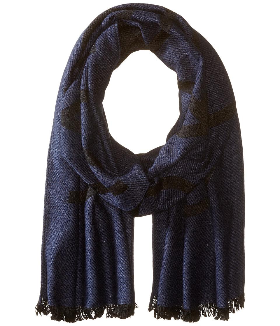 Calvin Klein - Woven Twill Logo Scarf (Navy) Scarves