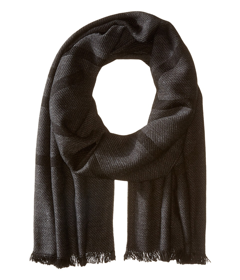 Calvin Klein - Woven Twill Logo Scarf (Charcoal) Scarves