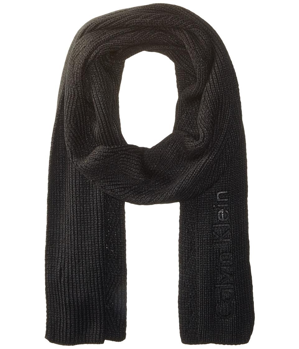 Calvin Klein - Chunky Wave Scarf (Black) Scarves