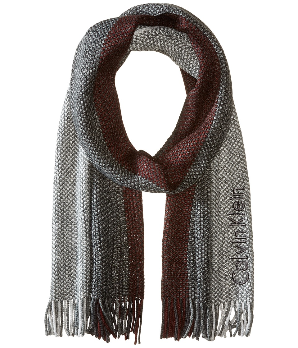 Calvin Klein - Ombre Raschel Muffler (Burgundy) Scarves