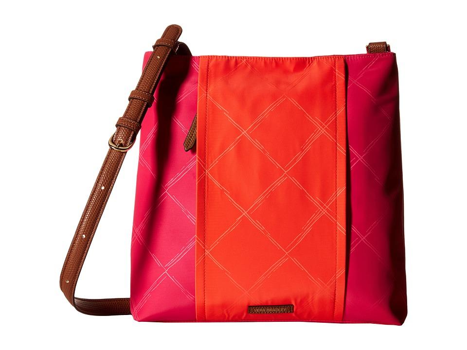 Vera Bradley - Preppy Poly Molly Crossbody (Rose/Orange) Cross Body Handbags