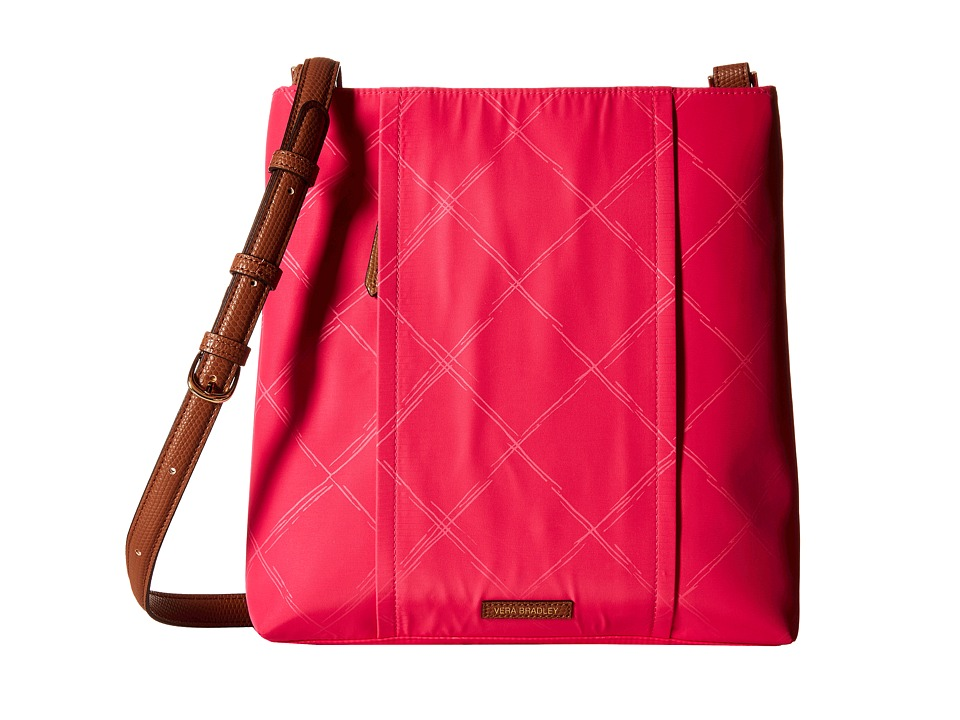 Vera Bradley - Preppy Poly Molly Crossbody (Rose) Cross Body Handbags