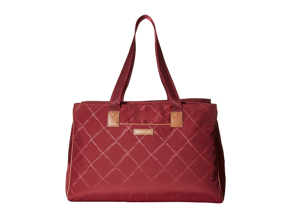 Vera Bradley - Preppy Poly Triple Travel Bag (Claret) Handbags