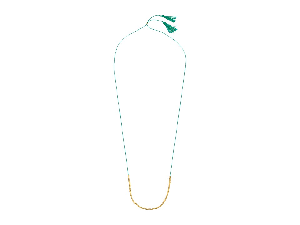 gorjana - Laguna Beaded Necklace (Teal/Gold) Necklace