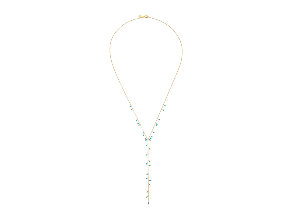 gorjana - Lagoon Lariat Necklace (Gold/Turquoise) Necklace