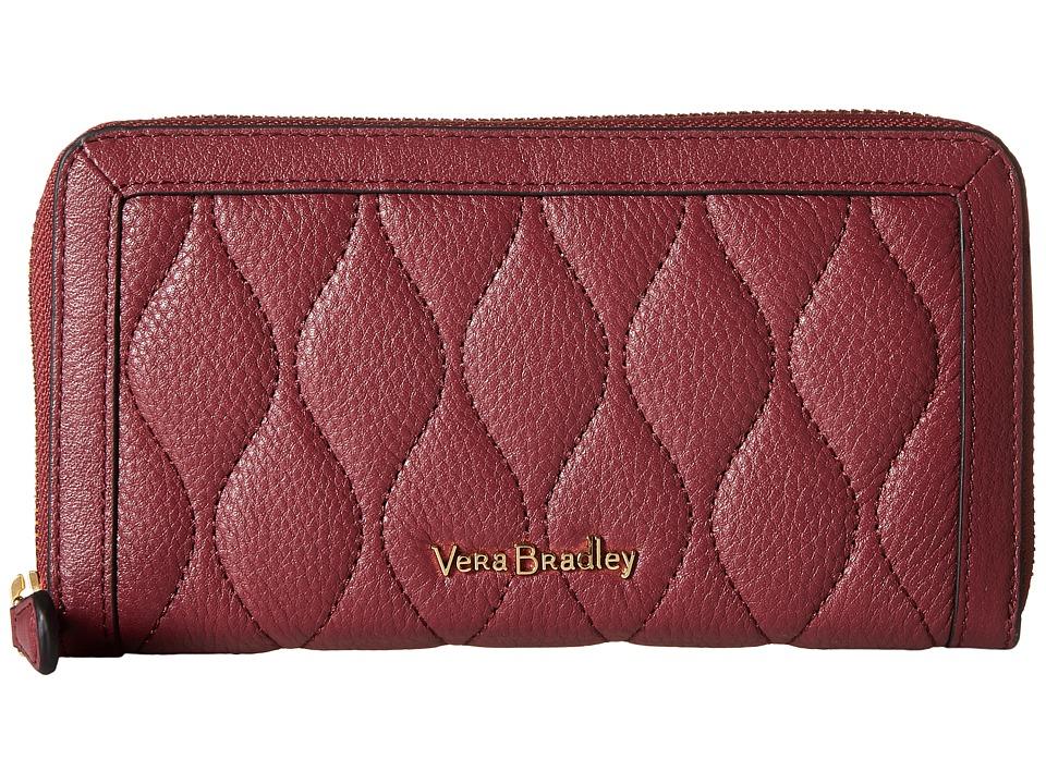 Vera Bradley - Quilted Georgia Wallet (Claret) Bill-fold Wallet