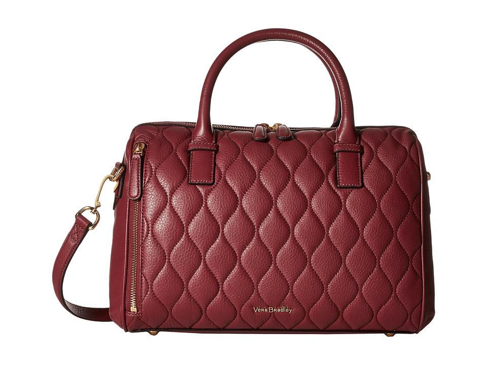 Vera Bradley - Quilted Marlo Satchel (Claret) Satchel Handbags