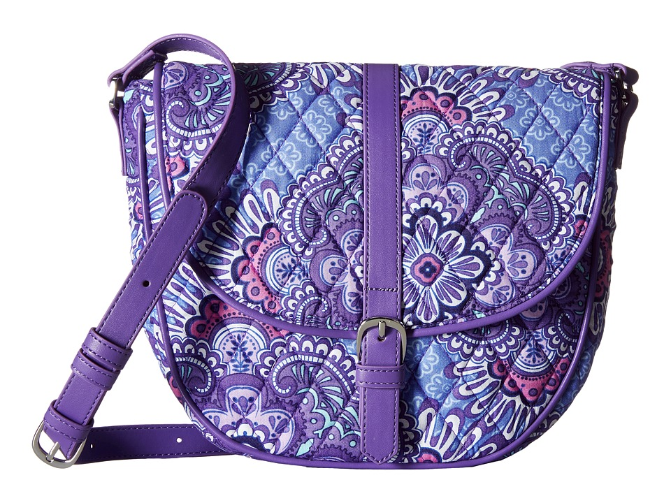 Vera Bradley - Slim Saddle Bag (Lilac Tapestry) Handbags