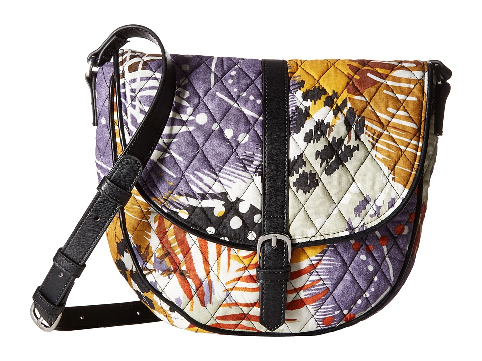 Vera Bradley - Slim Saddle Bag (Painted Feathers) Handbags