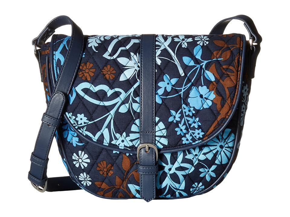 Vera Bradley - Slim Saddle Bag (Java Floral) Handbags