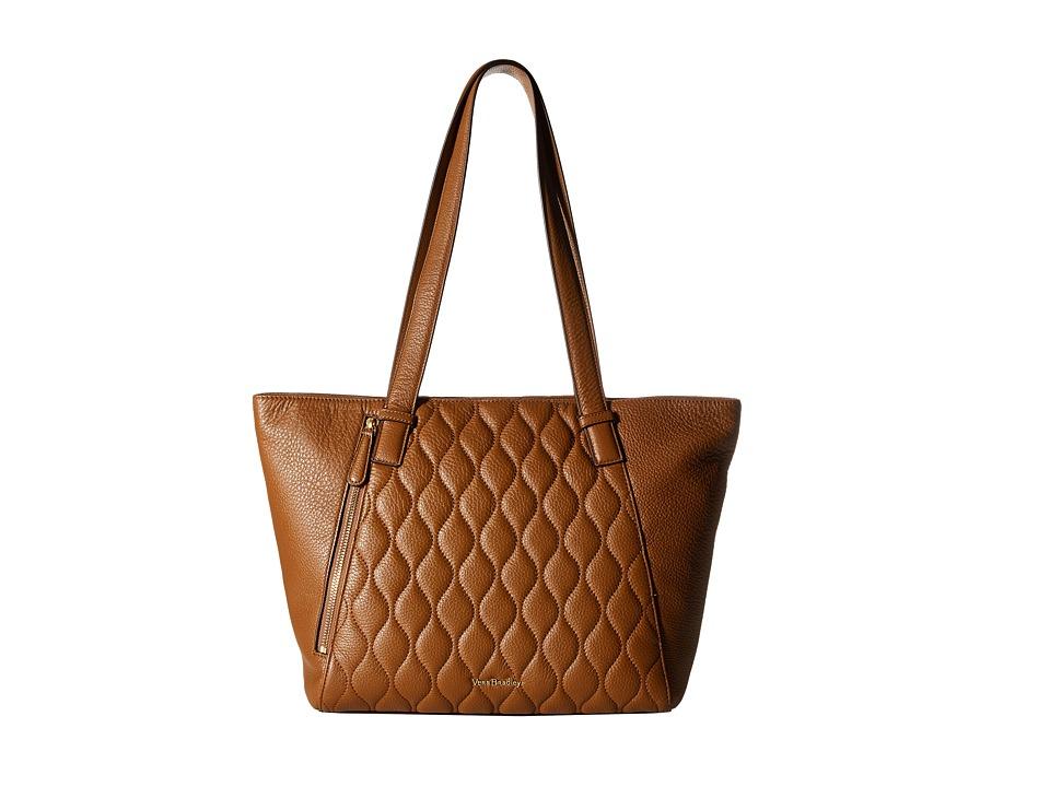 Vera Bradley - Small Avery Tote (Cognac) Tote Handbags