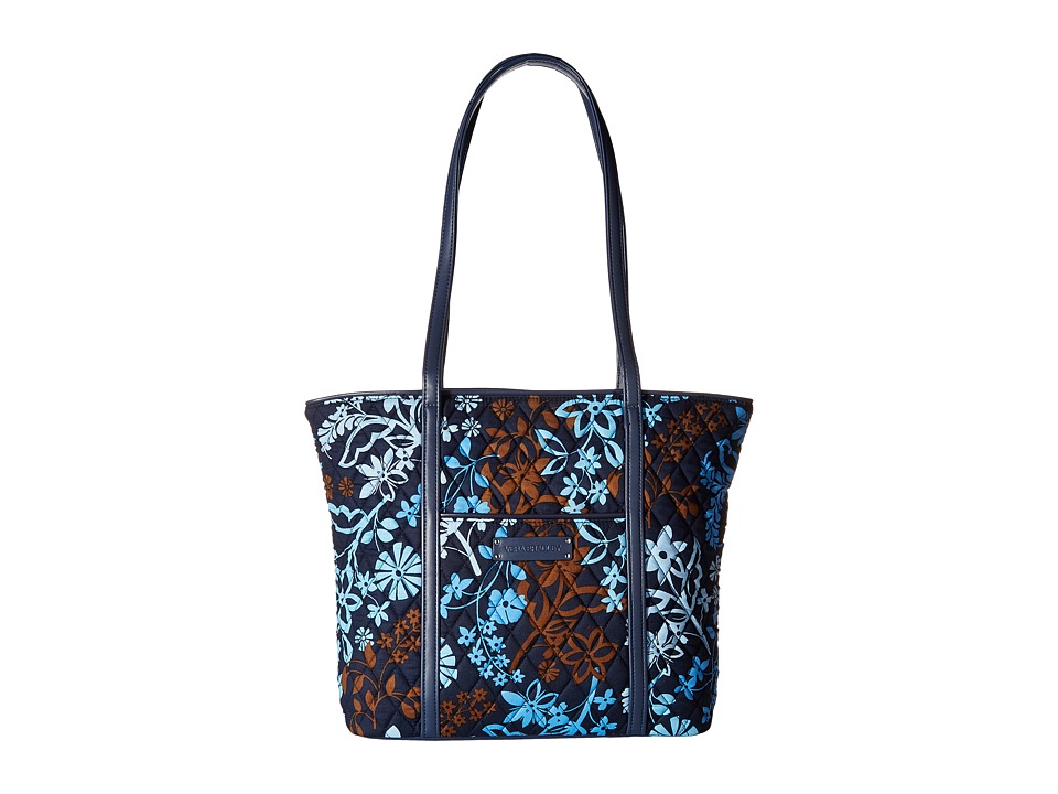 Vera Bradley - Small Trimmed Vera (Java Floral) Tote Handbags