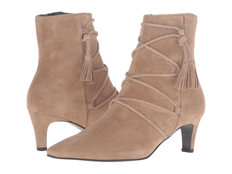 Kennel & Schmenger - Kitten Heel Tassle Bootie (Nutmeg Suede) Women's Boots