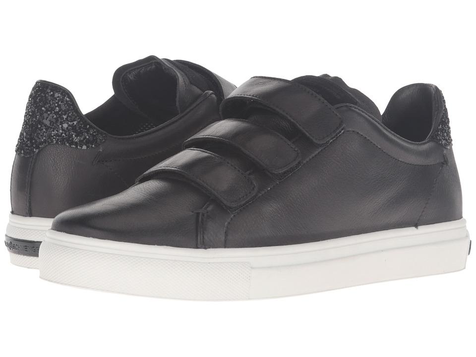 Kennel & Schmenger Three Strap Sneaker (Black Calf/Glitter) Women