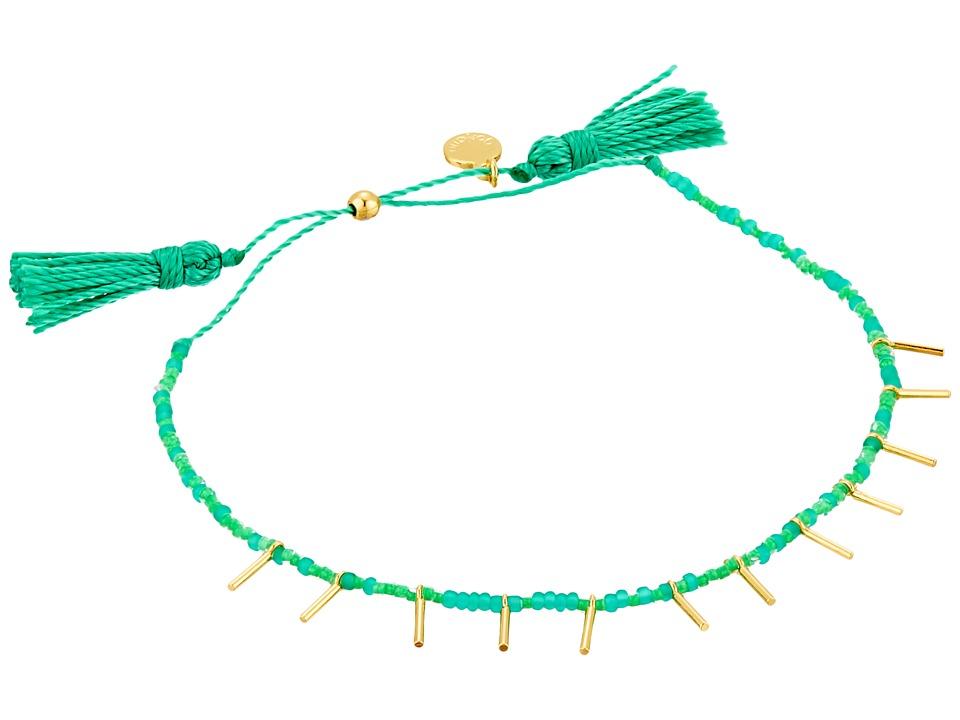 gorjana - Marmont Beaded Bracelet (Teal/Gold) Bracelet