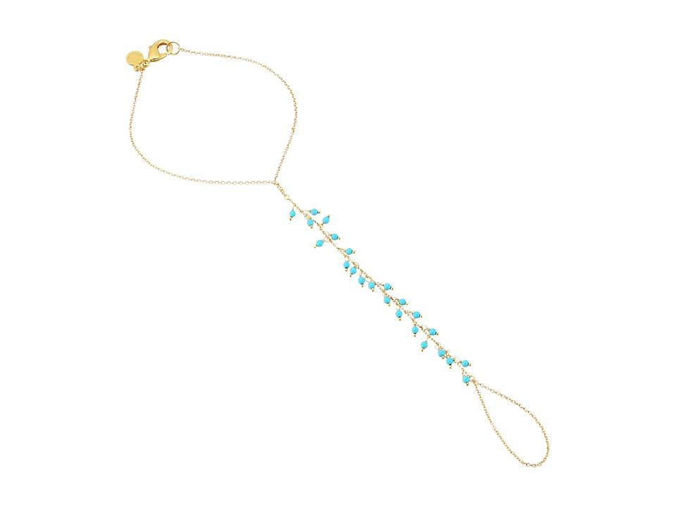 gorjana - Lagoon Handchain Bracelet (Gold/Turquoise) Bracelet
