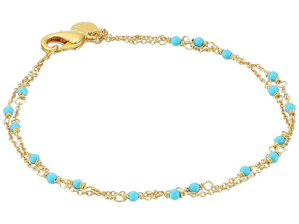 gorjana - Lagoon Bracelet (Gold/Turquoise) Bracelet