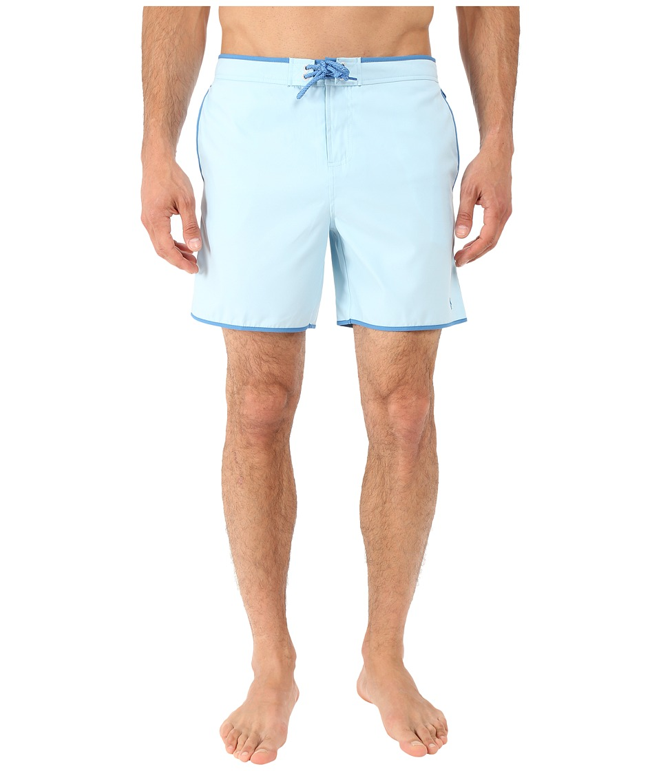 Original Penguin - Earl Fixed Volley Swim Shorts (Crystal Blue) Men's Swimwear