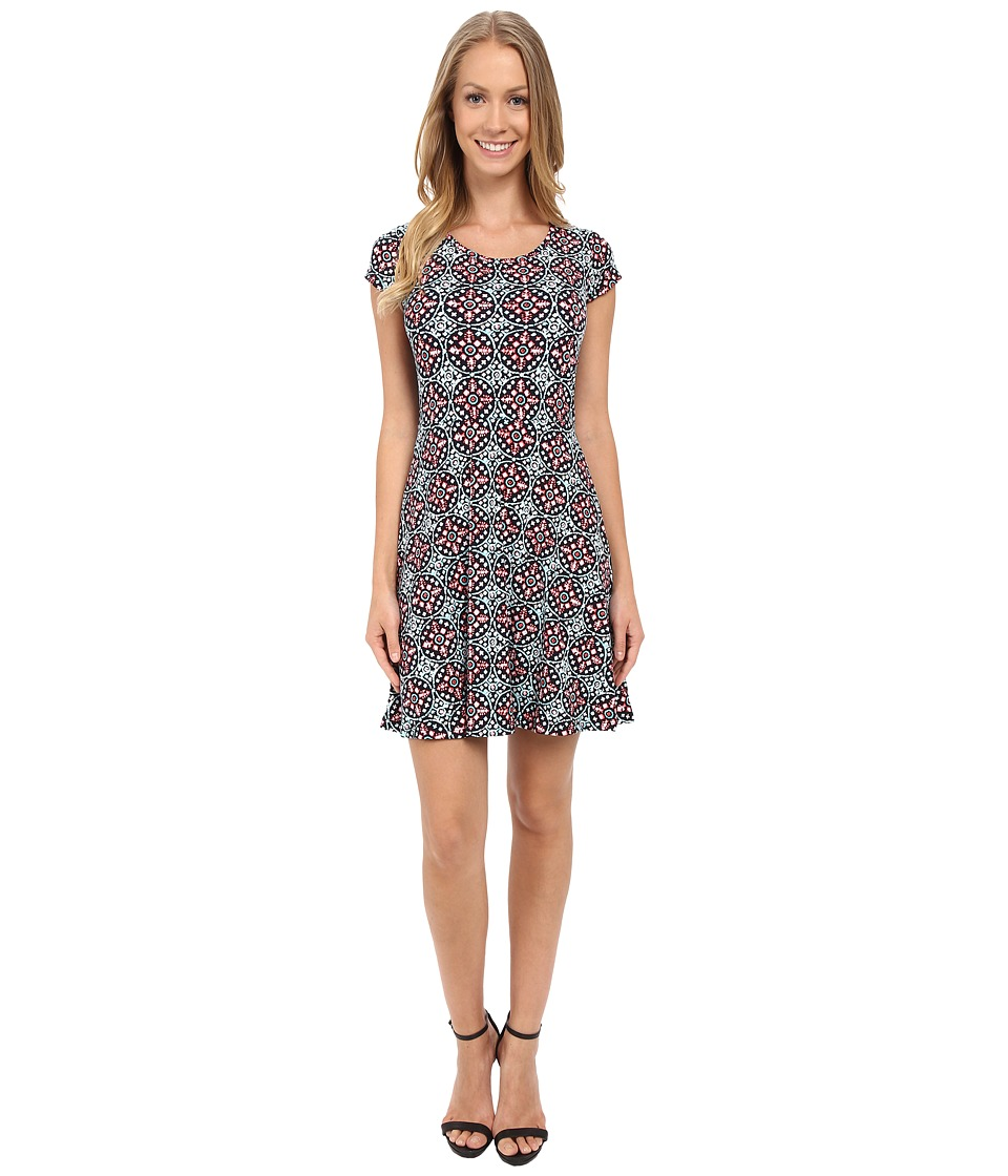 MICHAEL Michael Kors - Nui Cap Flare Dress (Coral Reef) Women's Dress