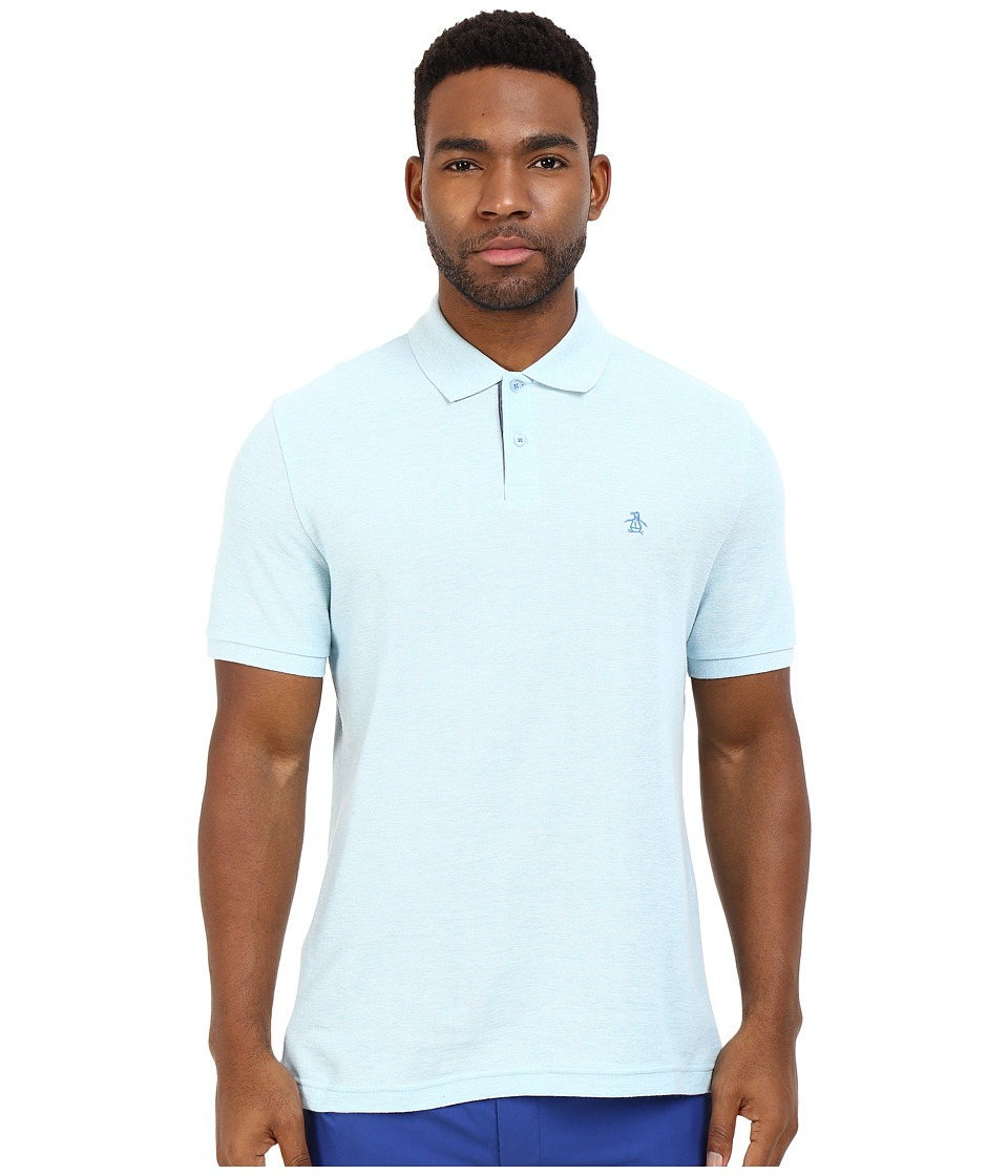 Original Penguin - Daddy-O Polo (Crystal Blue 1) Men's Short Sleeve Pullover