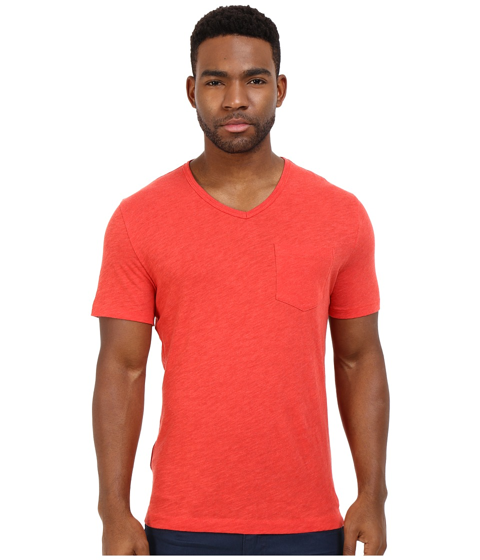 Original Penguin - Bing V-Neck (Rococco Red) Men's T Shirt