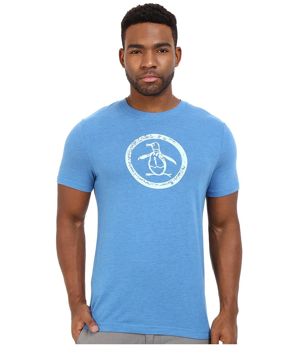 Original Penguin - Triblend Distressed Circle Logo Tee (Deep Water) Men's T Shirt