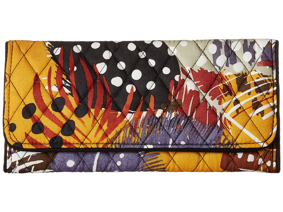 Vera Bradley - Trifold Wallet (Painted Feathers) Wallet Handbags
