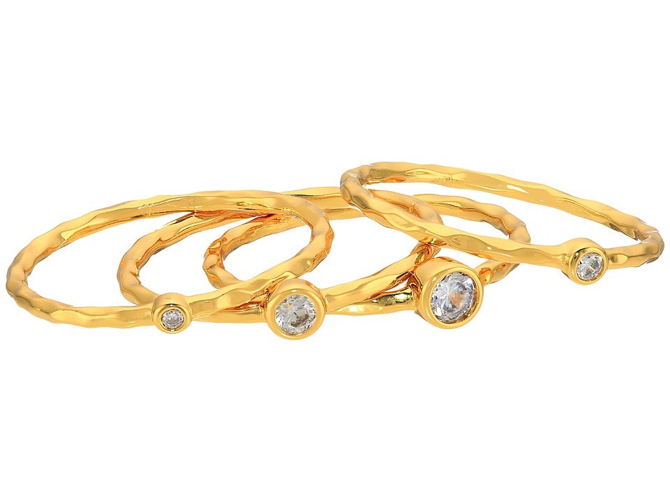 gorjana - Shimmer Stacking Ring Set (Gold) Ring