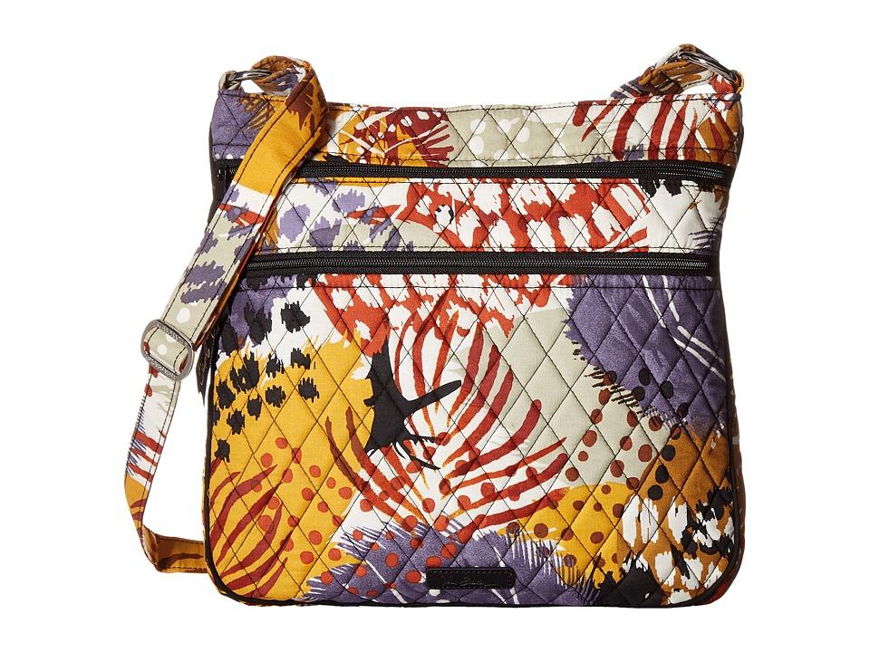 Vera Bradley - Triple Zip Hipster (Painted Feathers) Cross Body Handbags