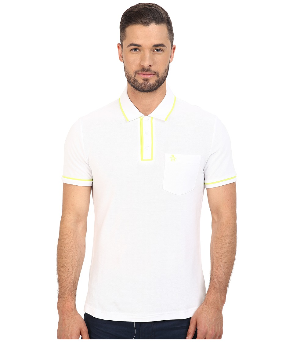 Original Penguin - Earl Polo (Bright White 1) Men's Short Sleeve Pullover