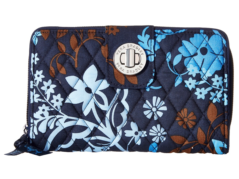 Vera Bradley - Turn Lock Wallet (Java Floral) Clutch Handbags