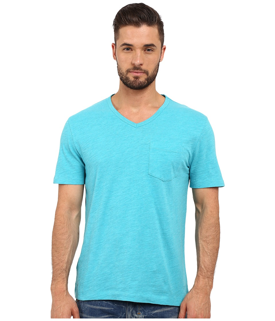 Original Penguin - Bing V-Neck (Scuba Blue) Men's T Shirt